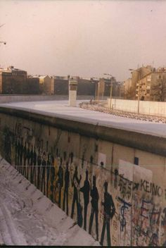 Berlin Wall: beginning of the eastern side of Berlin, as seen from the West