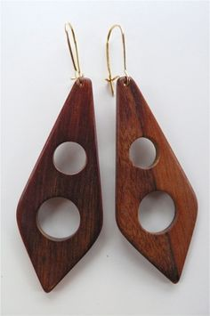 $22.00 Lulu vintage wood earrings