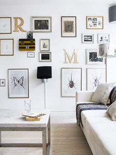 gallery wall - eclectic