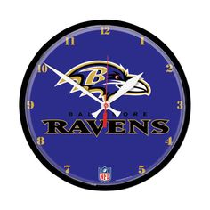 Baltimore Ravens NFL Round Wall Clock