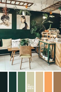Green & Beige & Color Palette Inspiration & Color Inspiration For the Home & Paint Color Ideas & Wedding Colors Source by AmeliaEverlyDesigns