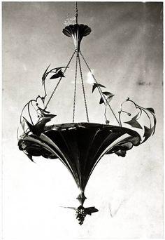 Dagobert Peche 1920 / Lamp design for the Wiener Werkstätte.