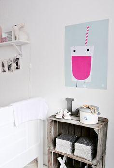 #Kinderkamer #meisjeskamer Lemonade #poster soft green in Lola's room