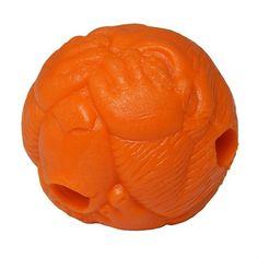 Bola Macaquinho Laranja com Dispenser de Ração ou Petisco PetGames - MeuAmigoPet.com.br #petshop #cachorro #cão #meuamigopet