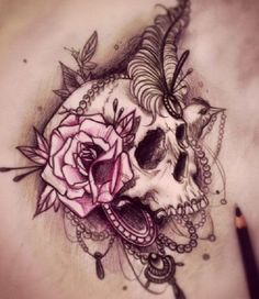 Skull Tattoos 22 - 80 Frightening and Meaningful Skull Tattoos <3
