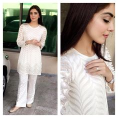 """40.2k Likes, 449 Comments - maya ali (@mayaaliofficial) on Instagram: """"1st day of Shaukat Khanum breast cancer awareness campaign 2016 n wearing this beautiful white…"""""""
