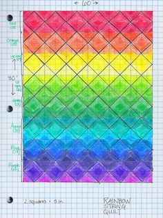Tales from the Rainbow Room: Completed Rainbow String Quilt