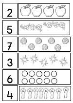 Early childhood education number worksheets from LessonSense.com - lesson plans, crafts, ideas, worksheets, and downloadable materials for kindergarten and primary elementary teachers.