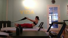 Bicep curls make us feel strong  Have you performed this exercise before? It might look like JUST a bicep exercise, but in this position it's also working your abs, inner thighs, and deltoids! That's a lot of bang for your buck!   Request this exercise in your next class and feel the burn   Instructor @3rdeyewellness  #pilates #abs #core #biceps #reformerpilates #josephpilates #goals #fitsagram #fitspiration #arms #legs #tone #strengthen #strongisthenewskinny #muscels #leggings..