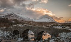 https://flic.kr/p/yoBuvN | Sligachan Bridge, Isle Of Skye. | One from February's archives tonight, the very well documented Sligachan Bridge on the Isle of Skye.  So I've decided to upgrade from the APS-C sensor of the Canon 70D to the Full Frame 6D. Looking forward to the world of full frame photography and all the benefits it brings :)  www.facebook.com/davenoddyphotography