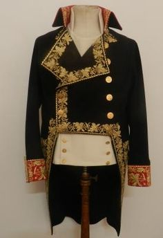Uniform jacket of the General of Division worn by Napoleon at the Battle of Marengo, 1800.