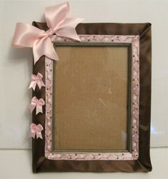 Handmade picture frames products i love pinterest craft handmade picture frame perfect gift for a new baby girl repin this pls sciox Image collections