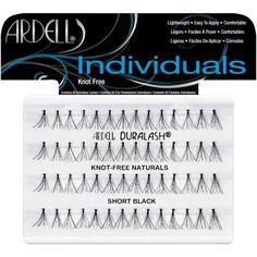Ardell Duralash Eyelash Set with 56 Individual Lashes, Flare Short, Black, Multi