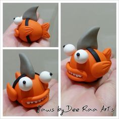 https://www.facebook.com/DeeRaaArts polymer clay fish shark sculpey fimo