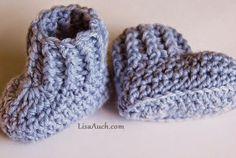 10 minute Easy Crochet Booties Pattern