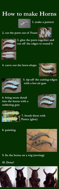 I promise I won't start with the horny jokes.  But this is a lovely way to make lightweight horns for your costumes!