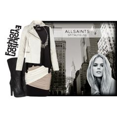 """""""Tunstall by AllSaints"""" by alivewithlove on Polyvore"""