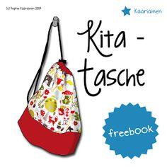 Die Kita - Tasche ist ein praktischer Beutel mit bauchigem Boden und Kordeldurchzug und dient als praktische Aufbewahrung...