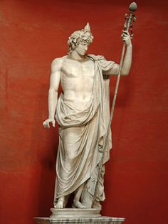 Colossal statue of Antinous as Dionysos—Osiris. Marble. 130s A.D. Inv. No. 256.Rome, Vatican Museums, Pio-Clementine Museum, Round Room.
