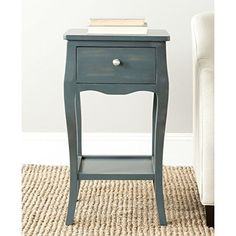 Safavieh American Home Collection Thelma Steel Teal End Table *** Click on the image for additional details. (This is an affiliate link) #SofaTableIdeas