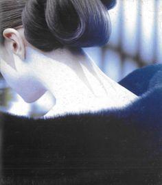 geisha neck makeup for yohji yamamoto f/w 1996, photographed by jerome esch