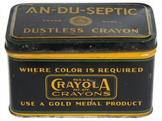 1930's Crayola tin box.