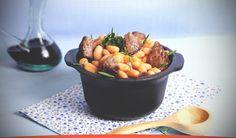 Receta de Estofado de legumbres y ternera para 4 personas