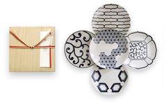 引出物 磁器の染め付け5寸皿5枚セット|HIGASHIYA Online shop