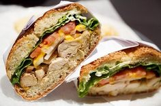 food-smut:  foodp0rn101:  Chicken caesar Sandwhich.  x