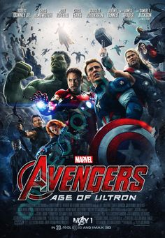 Marvel's Avengers Age of Ultron 10.5x15.25 US Movie Poster Reprint