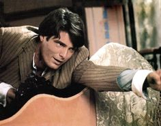 """""""Reaching back for Elise"""" ~ SOMEWHERE IN TIME, Christopher Reeve, 1980, ©Universal"""