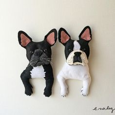 inu no applique…French bulldog Brindle・Pide ( イヌ ノ アップリケ…フレンチブルドッグ) ブリンドル・パイド French Bulldog felt applique and embroidery by e.no.bag  #frenchbulldog #embroidery #applique #brindle #pide