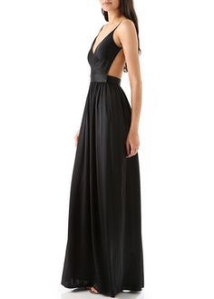 Fabulous Spaghetti Strap V neck Backless Dress -- I don't know where I'd ever wear this, but so freakin' pretty!!