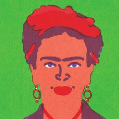 """Quick Portraits"" Frida Kahlo by Lorenzo Gritti"