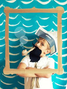 Cute Pirate DIY Photobooth! via http://diaperstylememoirs.com/2011/06/sail-away-with-me/