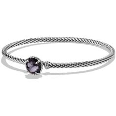 David Yurman Chatelaine Bracelet with Lavender Amethyst over Hematine ($325) ❤ liked on Polyvore featuring jewelry, bracelets, bracelet bangle, amethyst jewelry, bracelet jewelry, david yurman bangle and lavender jewelry
