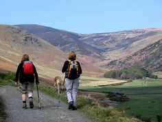 Ramblers in the Lake District Cumbria England