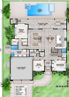 Modern House Floor Plans, New House Plans, Dream House Plans, House Layout Plans, House Layouts, Mansion Plans, New Home Wishes, Building Plans, House Building