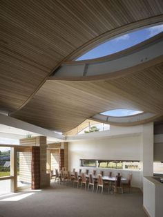 Robin House Childrens Hospice. An interesting undulating roof.
