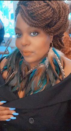 Feather Headpiece, Feather Earrings, Bohemian Lace Dress, Dreadlocks, Hair Styles, Earrings Handmade, Conversation, Unique, Beauty