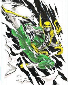 Iron Fist by Pop Mhan @popmhan  #ironfist #dannyrand #thedefenders #lukecage #heroesforhire #daredevil #jessicajones #kungfu #avengers #spiderman #marvel #netflix #comics