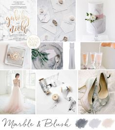 Marble & Blush Wedding Inspiration Board   SouthBound Bride   southboundbride.c...