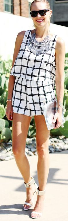 Windsor Black And White Checker Playsuit
