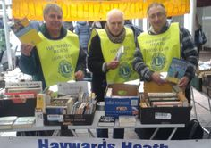 Haywards Heath Lions at the bookstall SUS-150219-121854001