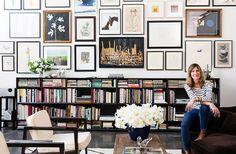 Julia Leach's Art-Filled living room