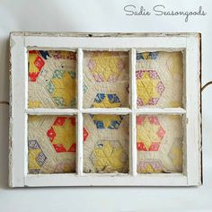Despair In Youngsters - Realize To Get Rid Of It Wholly How To Display A Vintage Quilt In An Antique Salvaged Window Frame For Spring Mantel By Sadie Seasongoods Old Quilts, Antique Quilts, Vintage Quilts, Hanging Quilts, Quilted Wall Hangings, Decor Crafts, Diy Crafts, Old Window Frames, Window Ideas