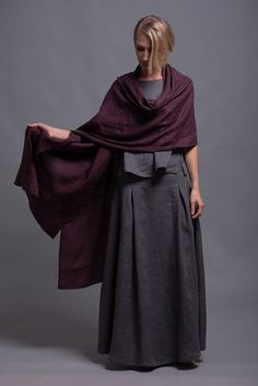 Linen Shawl Wrap, Unisex - Wide and Extra Long Flax Scarf - for Men and Women, Soft washed linen eco wraps, rustic wedding bohemian scarf Twirl Skirt, Linen Apron, Knit Skirt, Natural Linen, Linen Fabric, Dress For You, Lava, Rustic Wedding, Shawl