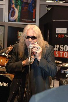 Blues Hall of Fame inductee Darrell Mansfield at the Hohner booth NAMM 2012.