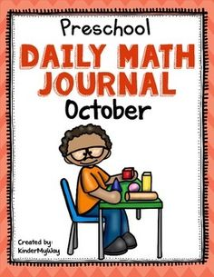 Preschool: Preschool Math Journal for October is perfect for the preschool classroom. The journal can be used for whole or small group instruction or homework.