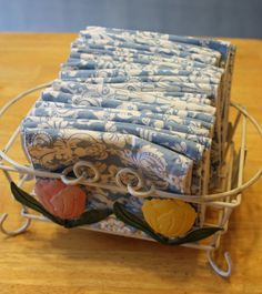 Food and Garden Dailies: Cloth Napkins and Un-Paper Towels